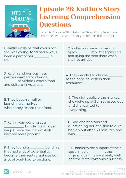 Episode 26 - Kaitlin's Story - Questions. signifciado de side hustle