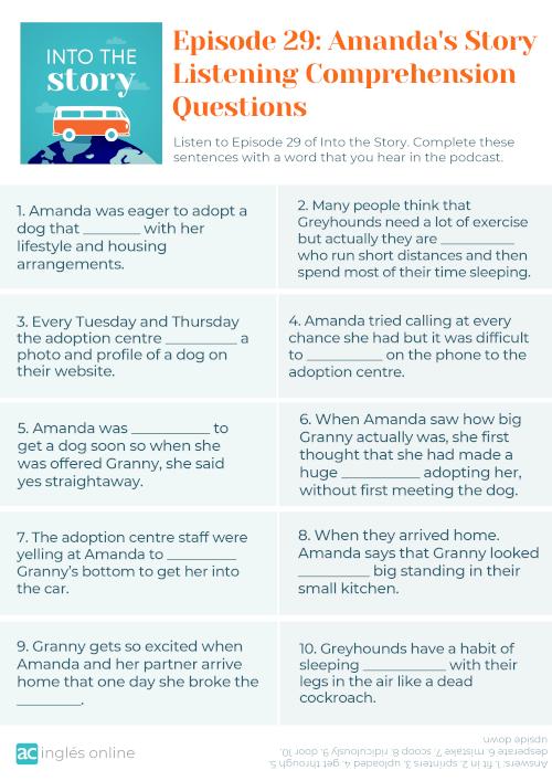 to get through en inglés_Episode 29 - Amanda's Story - Questions